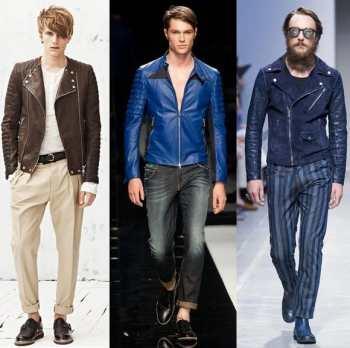 Тенденции мужской моды сезона весна 2013: байкерские куртки