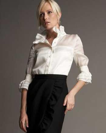 Как носить прозрачные блузки