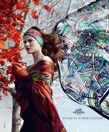 Модный тренд - шарф-повязка для волос. Как носить шарф-повязку в осеннем сезоне 2012