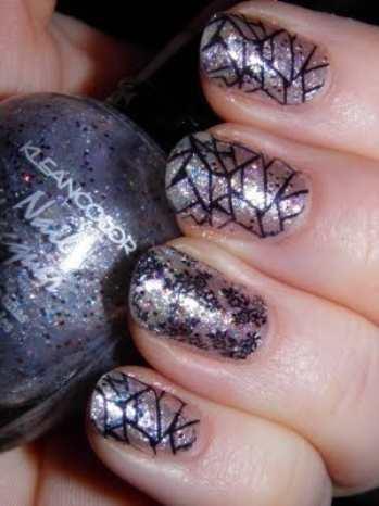 Стильный рисунок на ногтях