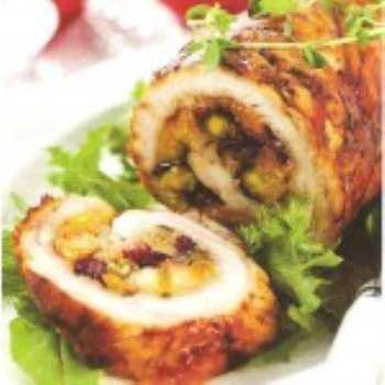 Мясной рулет с тыквой и грецкими орехами